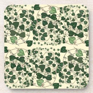 Vine Leaves Leaf Botanical Cork Coaster
