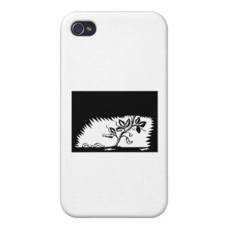 Vine Leaves Morphing Maggots Woodcut iPhone 4/4S Cases