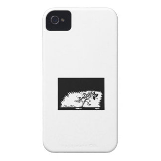 Vine Leaves Morphing Maggots Woodcut iPhone 4 Case-Mate Cases