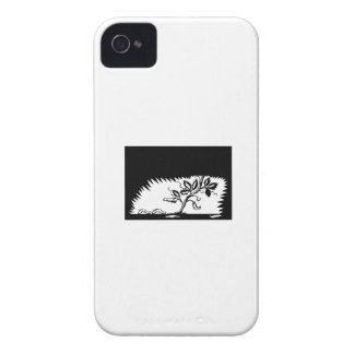 Vine Leaves Morphing Maggots Woodcut iPhone 4 Covers