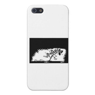 Vine Leaves Morphing Maggots Woodcut iPhone SE/5/5s Cover