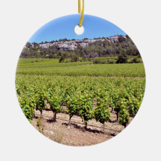 Vine near of Narbonne in France Ceramic Ornament