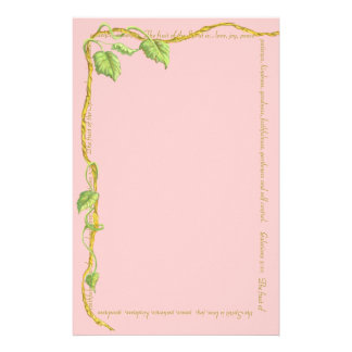 Vine of Life Pink Stationary Stationery Design