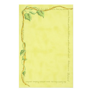 Vine of Life Vintage Gold Stationary Stationery