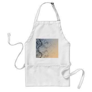 Vine Pattern over Blue and Peach Background Adult Apron