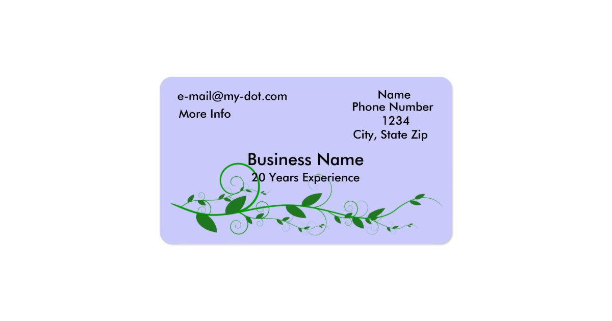Vine Rounded Corner Business Card
