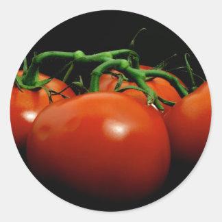 Vine Tomatos Classic Round Sticker