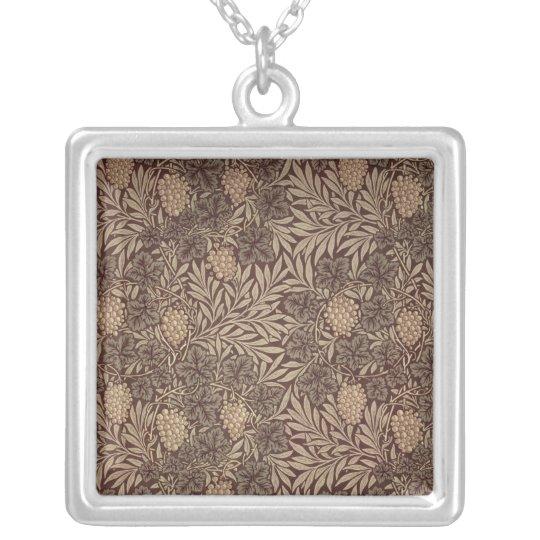 'Vine' wallpaper design, 1873 Silver Plated Necklace