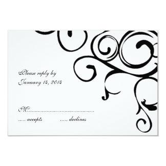 Vine Wedding Invitation RSVP Card