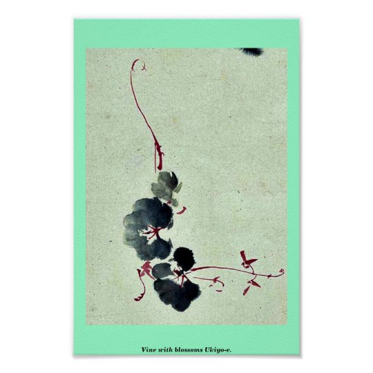 Vine with blossoms Ukiyo-e. Poster