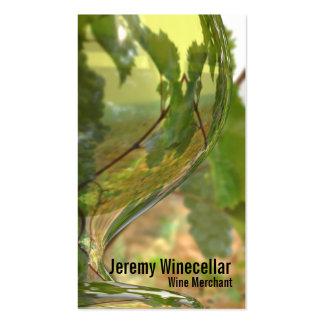 Viñedo blanco de la copa de vino tarjeta de visita
