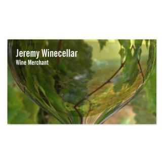 Viñedo blanco de la copa de vino tarjeta de negocio