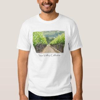 Viñedo de la primavera en Napa Valley California Camisas