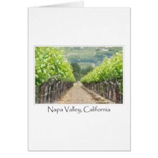 Viñedo de la primavera en Napa Valley California Tarjeta De Felicitación