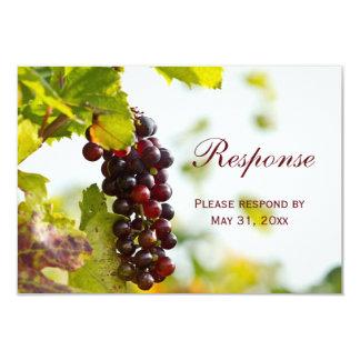 Viñedo de las uvas del lagar que casa la tarjeta invitación 8,9 x 12,7 cm