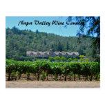 Viñedo del país vinícola de Napa Valley Postal