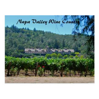 Viñedo del país vinícola de Napa Valley Tarjetas Postales