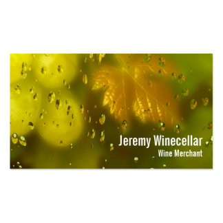 Viñedo del vino blanco tarjeta de visita