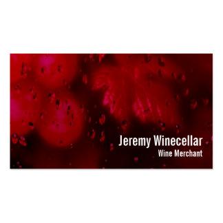 Viñedo del vino rojo plantillas de tarjeta de negocio