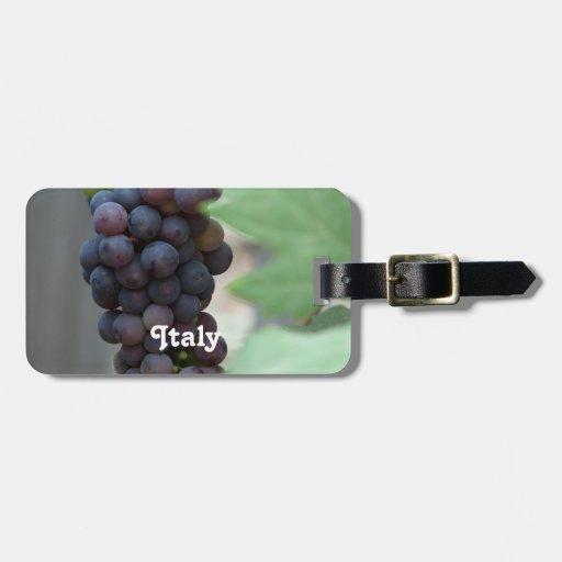 Viñedo en Italia Etiquetas Para Maletas