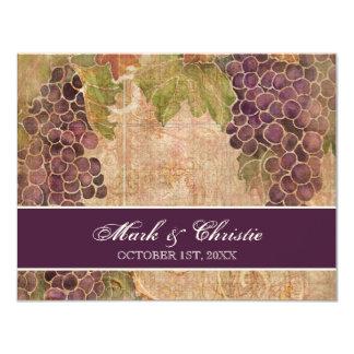 Viñedo envejecido de la uva que casa la tarjeta de comunicado personal