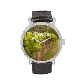 Viñedo francés relojes de mano