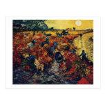 Viñedo rojo, Van Gogh, 1888 Tarjetas Postales