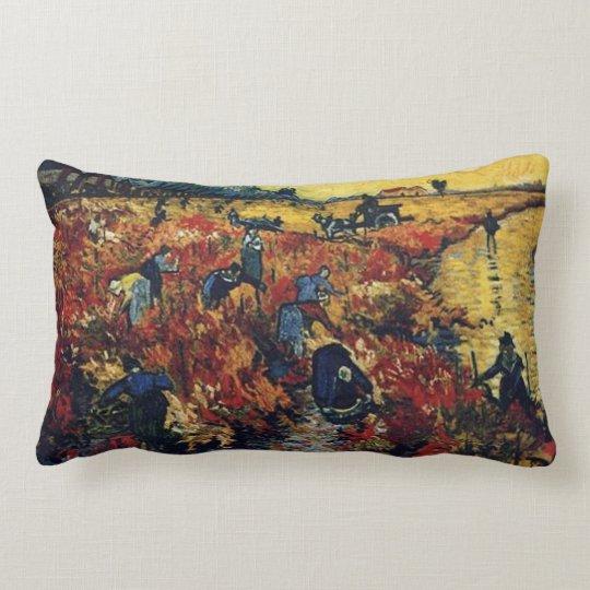 Viñedo rojo, Vincent van Gogh Cojín Lumbar