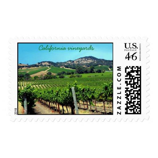 viñedo, viñedos de California Sellos
