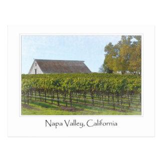 Viñedo y granero de Napa Valley California Tarjeta Postal