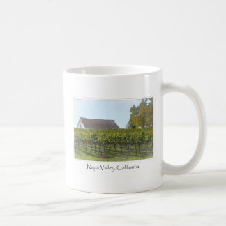 Viñedo y granero de Napa Valley California Taza De Café