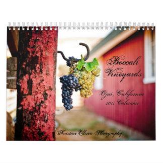 Viñedos 2011 de Boccali Calendario