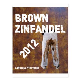 Viñedos Brown Zinfandel de Jeffrey LaRocque Postal