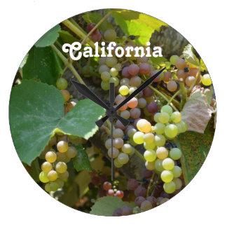 Viñedos de California Reloj Redondo Grande