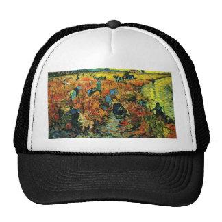 Viñedos rojos de Van Gogh en el gorra de Arles