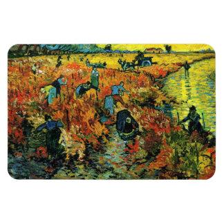 Viñedos rojos de Van Gogh en el imán de Arles