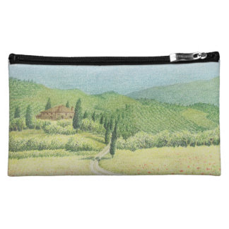 Viñedos toscanos, Italia en bolso cosmético en