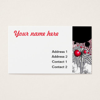 Vinehearts Spiderplants Red Heart Business Card