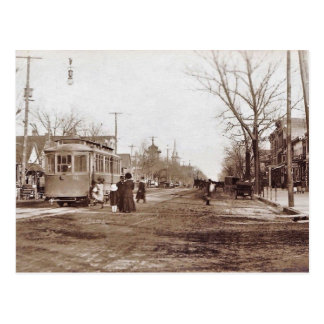Vineland NJ, Landis Ave, Trolley, Scene, c1910 Postcard