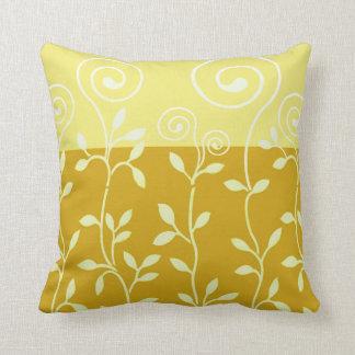 Vineri Flowering Vines | gold yellow Pillows