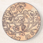 Vines and Grapes Beverage Coaster