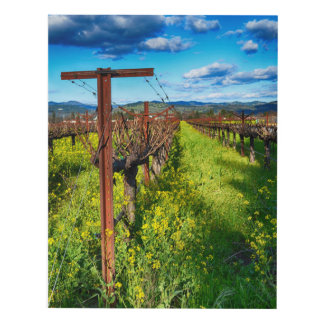 Vines and Mustard Panel Wall Art