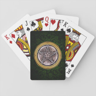 Vines and Storm Playing Cards - Green