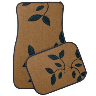 Vines Brown Car Mats Floor Mat