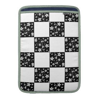 VINES CHECKERBOARD (a black & white design) ~.png MacBook Air Sleeve