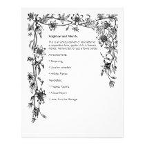 Vines & Flowers Border Newsletter Letterhead