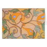 Vines on gold greeting card