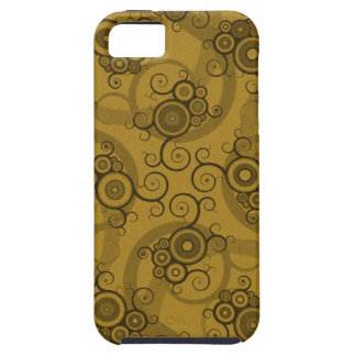 Vines Reticulation - Brown & Green Swirly Pattern iPhone SE/5/5s Case