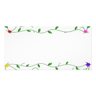Vines with flowers envelope card
