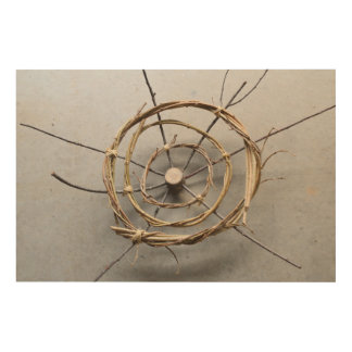 Vines & Wood Natural Eco Art Sculpture Centered